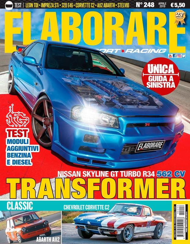 ELABORARE magazine APRILE 2019 con prova speciale Skyline GT trasformata da guida destra a sinistra!