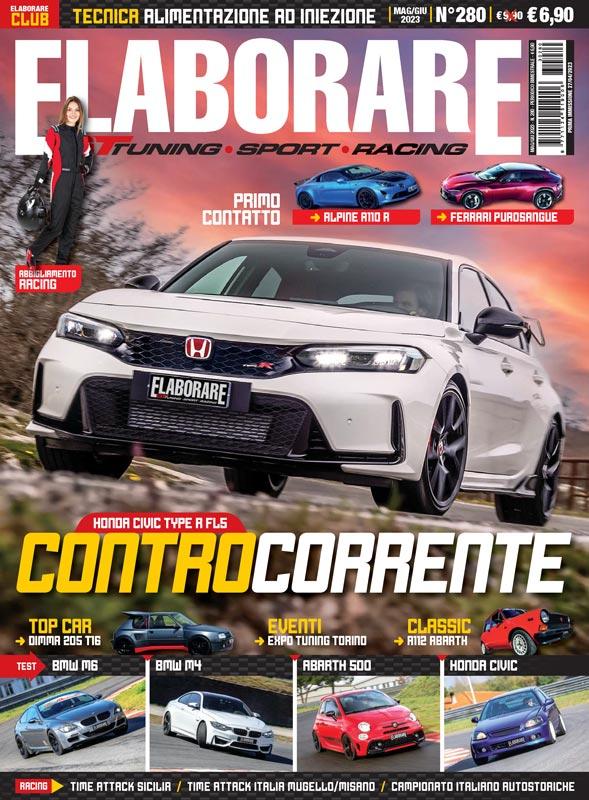 magazine tuning auto ELABORARE copertina ultimo numero in edicola